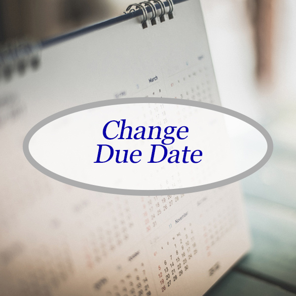 change payment due date